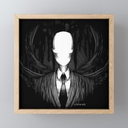 Slenderman Framed Mini Art Print