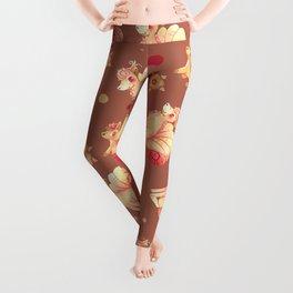 Vulpix & Ninetales pattern Leggings