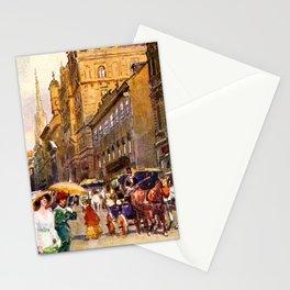 Great vintage belle epoque scene Vienna Austria  Stationery Cards