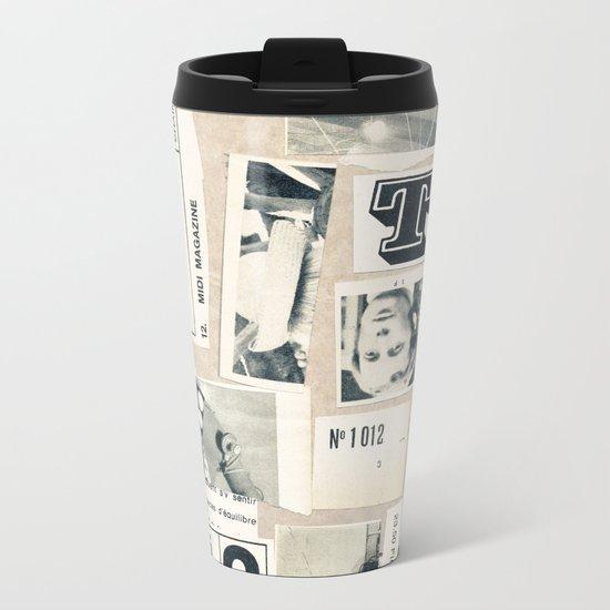 Flash-Contact Metal Travel Mug