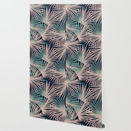 Tropical Fan Palm Leaves #5 #tropical #decor #art #society6 Wallpaper