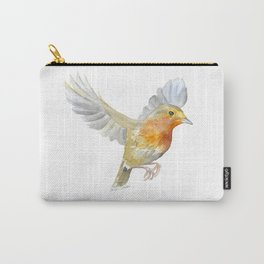 Robin in Flight Watercolor Carry-All Pouch