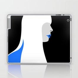 Joni Mitchell portrait (blue) Laptop & iPad Skin