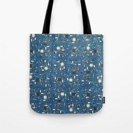 Blue tech Tote Bag