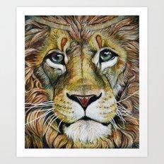 Lion Gaze Art Print