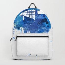 Gothenburg Sweden Skyline Blue Backpack
