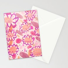 Funky Flowers Stationery Cards