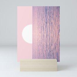 Pink on the Sea Mini Art Print