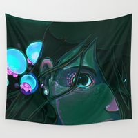 little mermaid Wall Tapestries featuring Little Mermaid by David Lanham