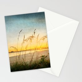 Ocean Springs Beach and Sea Oats Stationery Cards
