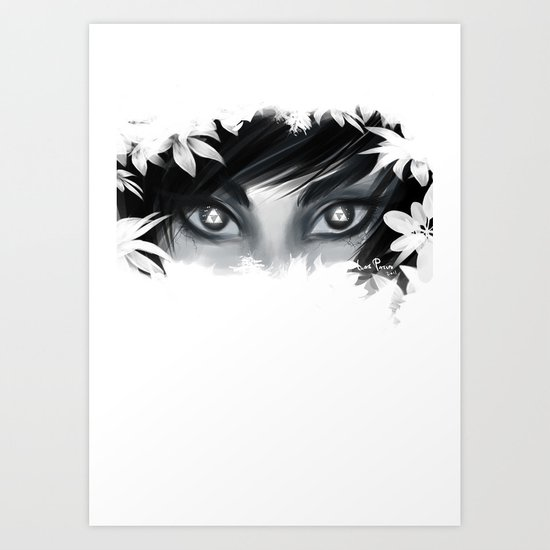 Triforce Stare Art Print