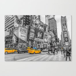 Yellow Taxi's Times Square Canvas Print
