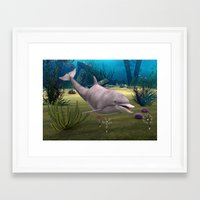 dolphin Framed Art Prints featuring Dolphin by Design Windmill