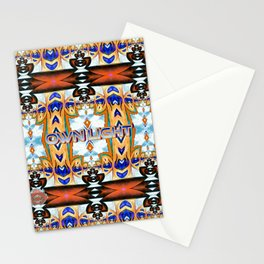 Own Light, a colorful sophisticated pattern Stationery Cards