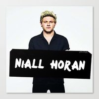 niall horan Canvas Prints featuring Niall Horan by girllarriealmighty