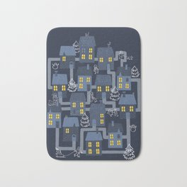 Houses and Christmas Bath Mat