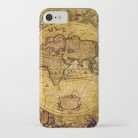 "vintage map iPhone & iPod Cases featuring VintaGe Map by ""CVogiatzi."