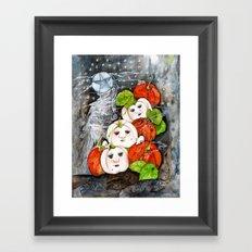 Painted Pumpkins Framed Art Print