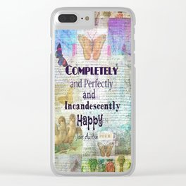 Jane Austen Pride and Prejudice Quote Completely And Perfec Clear iPhone Case