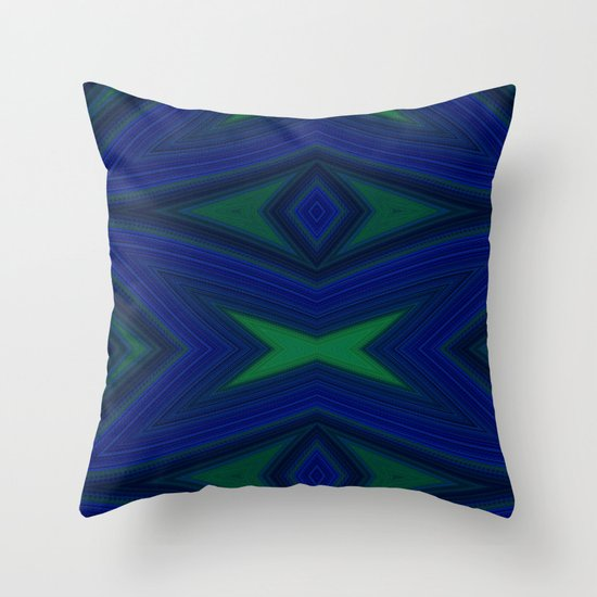 Blue Geometric Throw Pillows : Blue Diamond Geometric Design Throw Pillow by SteeleArt1 Society6