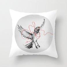 COURIER ROBIN Throw Pillow