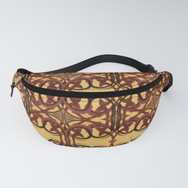 Hints of the East - Mustard, Wine and Chocolate shades Fanny Pack