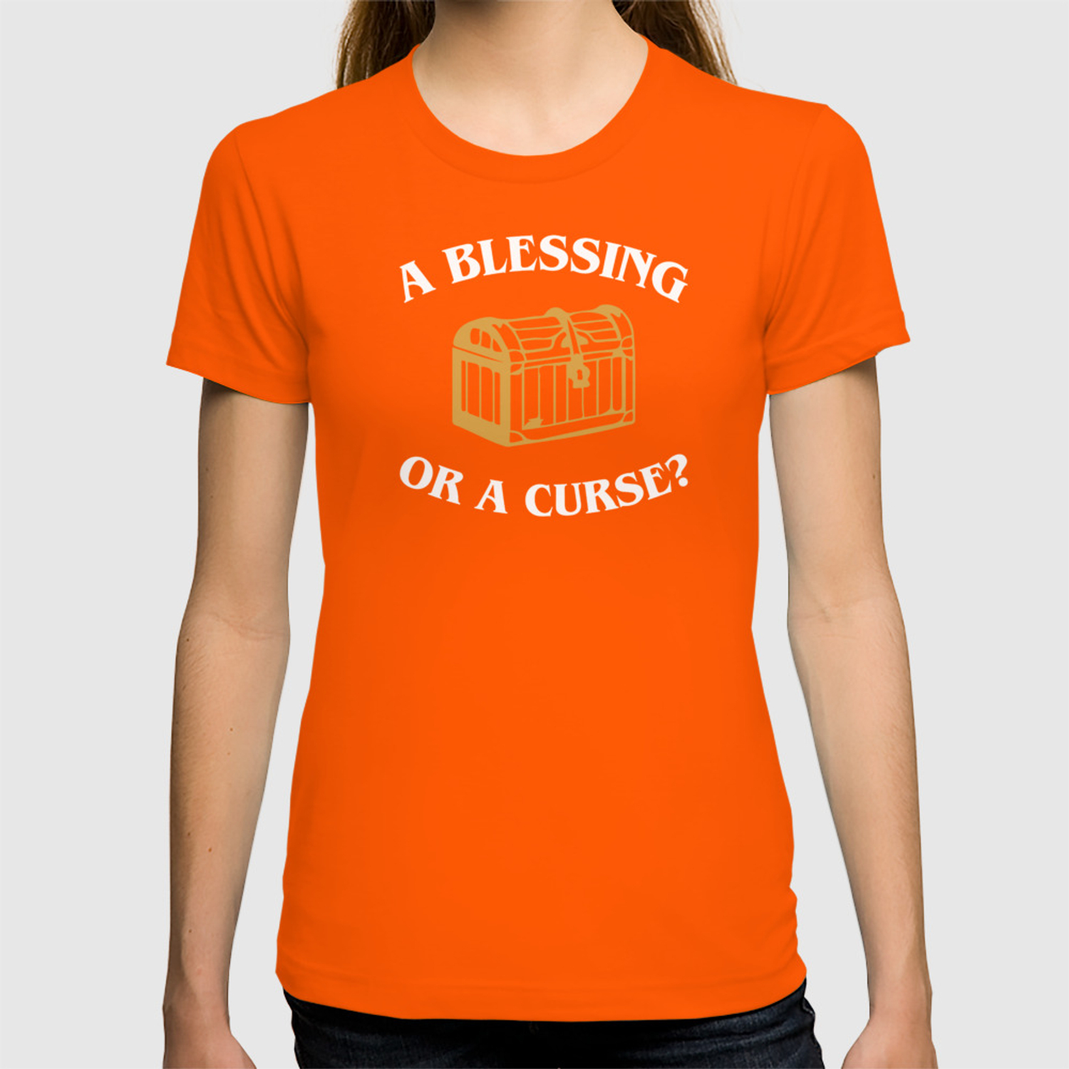 DnD Blessing or Curse Dungeons and Dragons Inspired Tabletop RPG Gaming  T-shirt