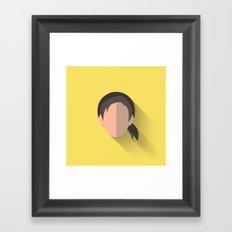 Leia Flat Design Episode VII Framed Art Print