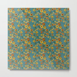 Sunflowers - Master Painters 7 Smaller Pattern Metal Print
