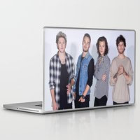 1d Laptop & iPad Skins featuring New 1D by kikabarros