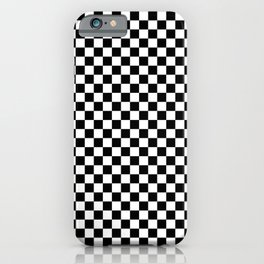 Black and White Check iPhone Case