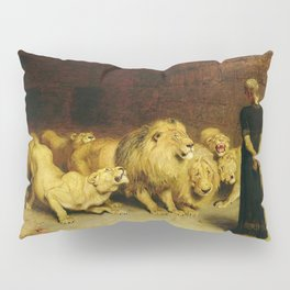 Daniel In The Lions Den 1872 By Briton Riviere Pillow Sham