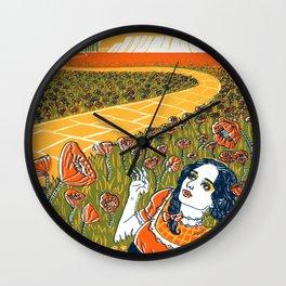 Dorothy in the Poppy Field Wall Clock