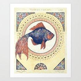 Turkish Gold Fish Art Print