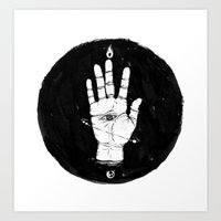 Future Hand Art Print