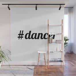 Hash Tag Dancer Wall Mural