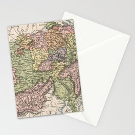 Vintage Map of Switzerland (1882) Stationery Cards