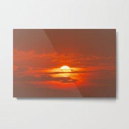 Sunset in Canada Metal Print