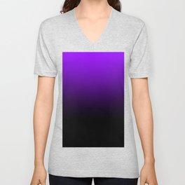 black and purple Unisex V-Neck