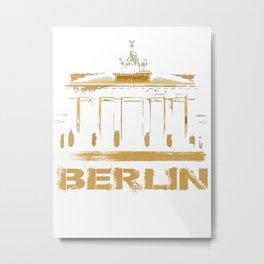 Brandenburg Gate, Brandenburger Tor Metal Print