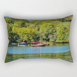 Mylor Creek - Moored Boats Rectangular Pillow