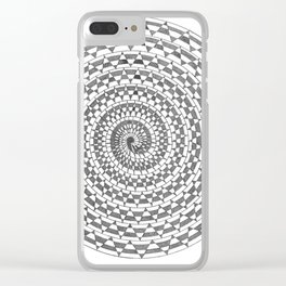 spiral 3 Clear iPhone Case