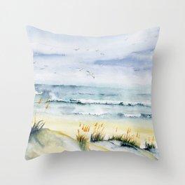 Beach is Calling Throw Pillow