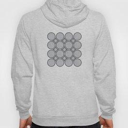 Drop Ripples - Hand Drawn Geometric Pattern (Black) Hoody