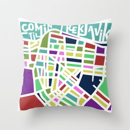 Welcome to Reykjavik Throw Pillow