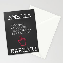 Amelia Earhart quote Stationery Cards