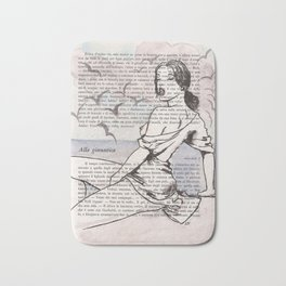 Aida, the sea, the clouds and the birds Bath Mat
