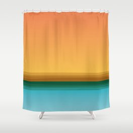 Quiet (landscape) Shower Curtain