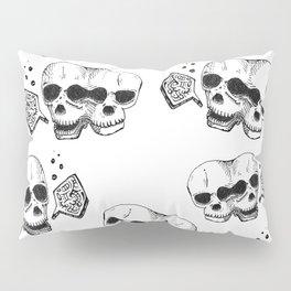 GEMINI - twins - conjoined skull zodiac series doodle Pillow Sham