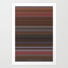 The Grand Budapest Hotel - The Colors of Motion Art Print